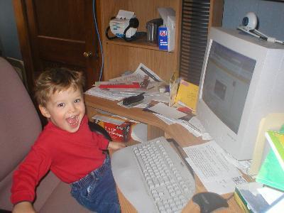 phillip on computer